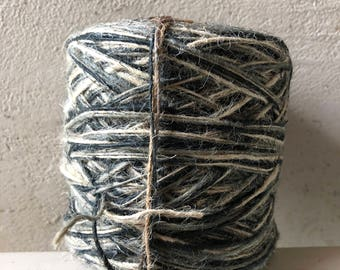 FLAXCORD tricolor black, grey, natural  160 m +/- 1 mm