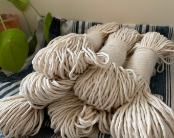 Macrame cotton string, 164 ft (50 m),  2 mm, macrame cotton, natural raw single twist 2 mm, cotton rope