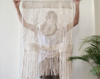 MATIASMA 3  Big macrame wallhanging. Unique piece
