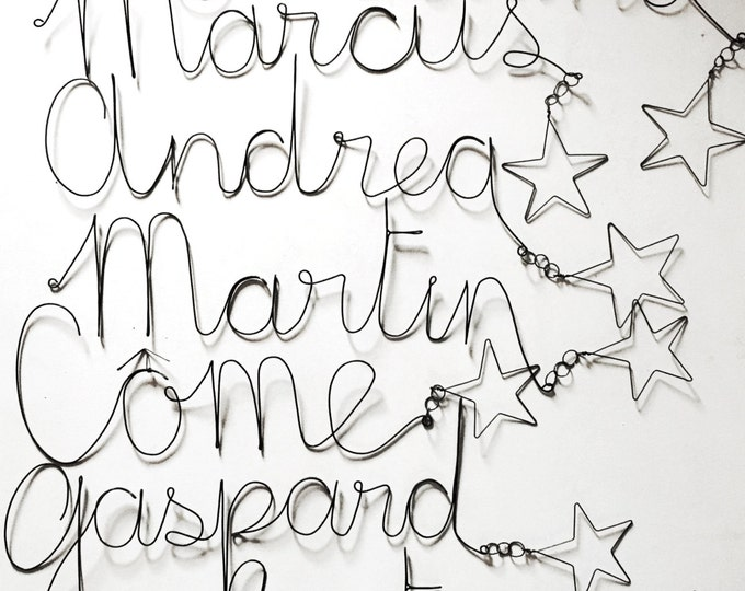 Personalized your wire name sign ( with a star OR not see option)