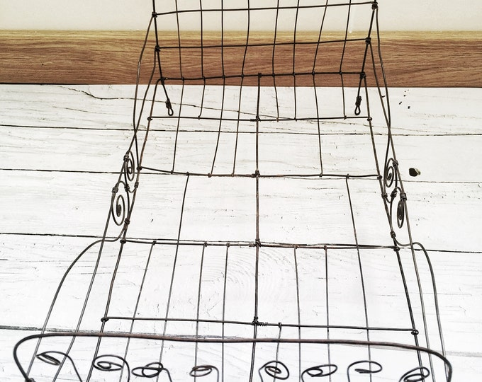 Featured listing image: Doll wire bed, handmade doll wire bed, decorative doll wire bed, collection bed