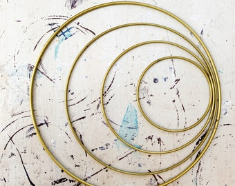 metal hoop, 4  sizes :  ø 10cm, 15 cm,  20 cm, 25 cm, black hoop, silver hoop,  gold hoop, gold ring, metal ring, black ring, silver ring