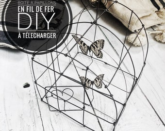 DIY wire boxe with butterflies , PDF to download , wire pattern, wire DIY, wire art