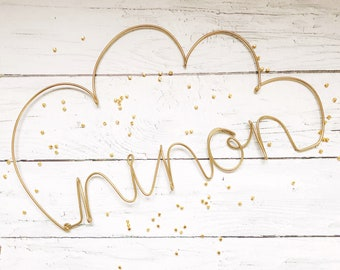 Personalized your wire golden cloud. personalized gift . wire word personalized