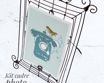 Craft kit  - wire frame . Booklet in French .