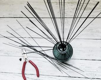 Steel black wire, annealed wire stick  0.8 mm / 1mm ( ga 19/20 ) 30 cm ( 11,8 in ) rusty craft wire / Steel craft wire / artistic wire
