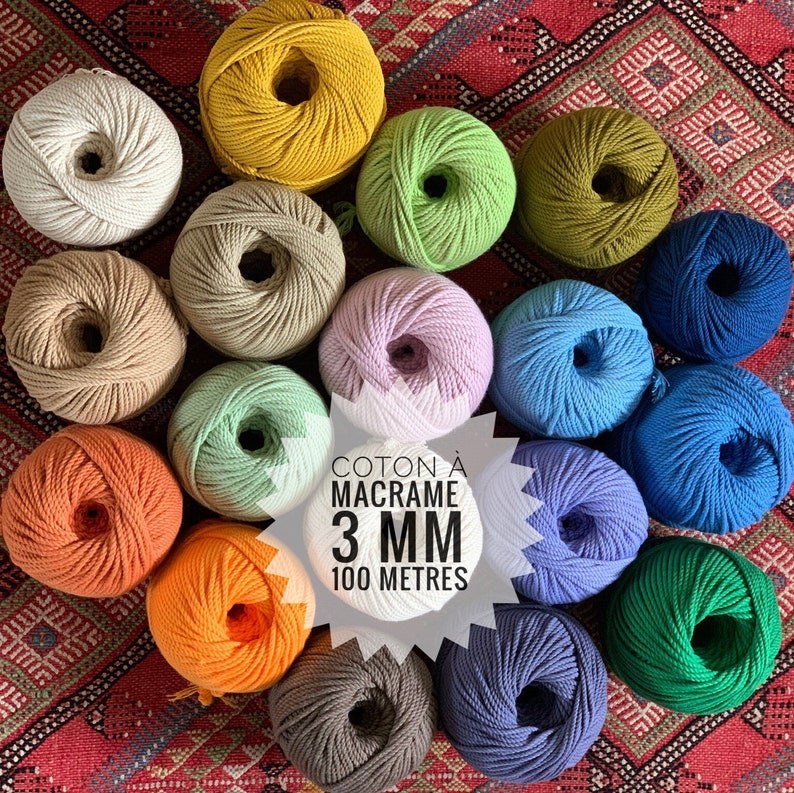 cotton rope for macrame  cotton cord around 100 m  320 ft image 0
