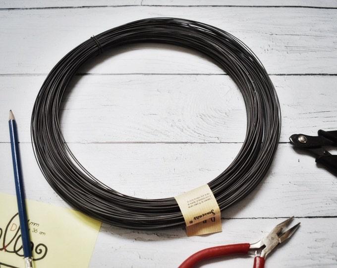 Steel black wire, annealed wire , Ø  1  mm  400 m ( 1312 ft ) rusty craft wire / Steel craft wire / ga 18 , wire 1 mm / black iron wire