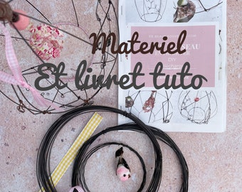 Craft Kit Wire cage, MATERIAL + BOOKLET,  Craft set , DIY wire, wire kit, annealed wire