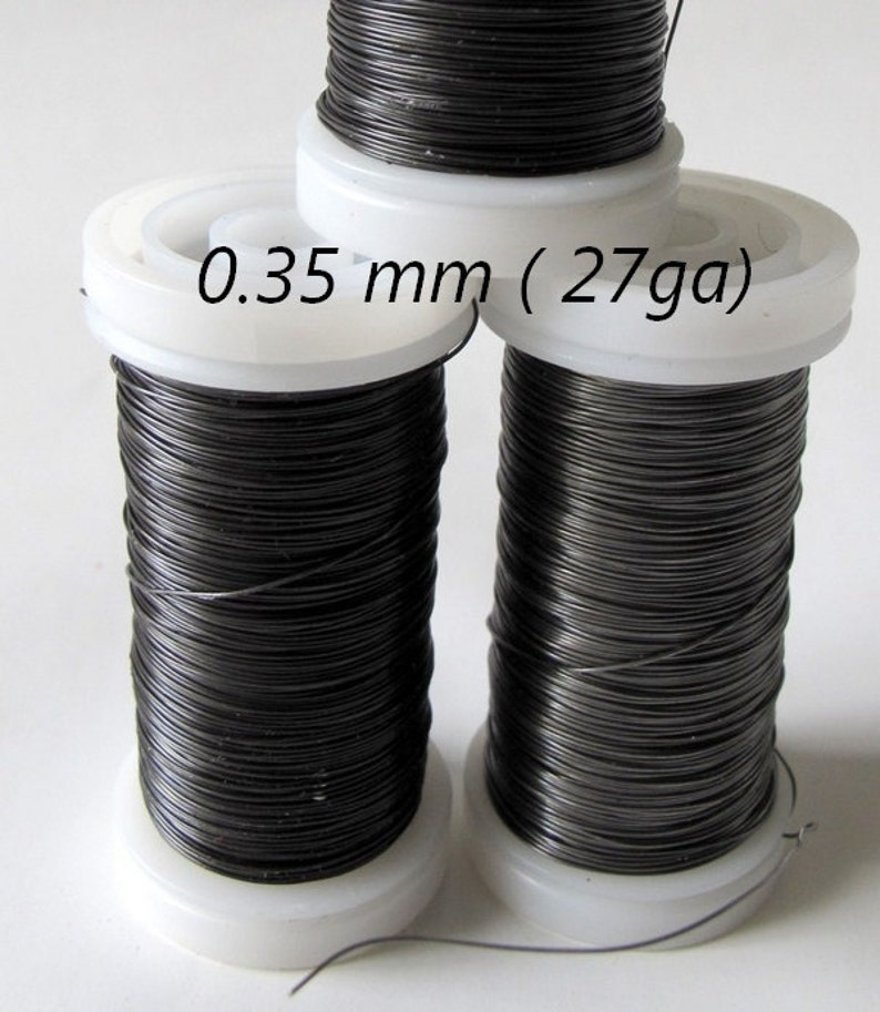 steel grey wire or florist's wire slimy wire  annealed image 0