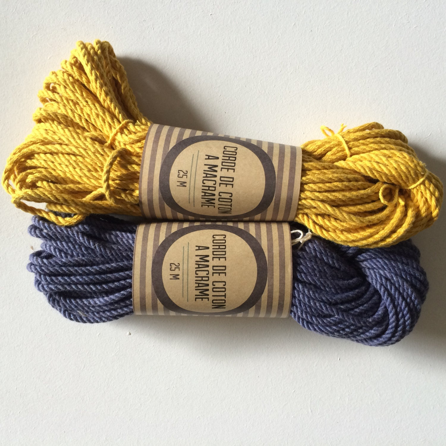 Macrame cotton cord, 100 ft (30 m), 3 mm, beautiful quality