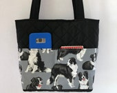 Border Collie Tote for Border Collie Lovers, Border Collie Purse, Border Collie Handbag