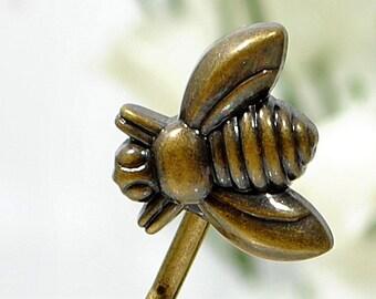 Bee Hair Pin Garden Bobby Pin Bronze Bobbies Woodland Hair Clip