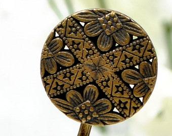 Celtic Bobby Pin Bronze Hair Pin Metal Bobbies Bronze Hair Clip