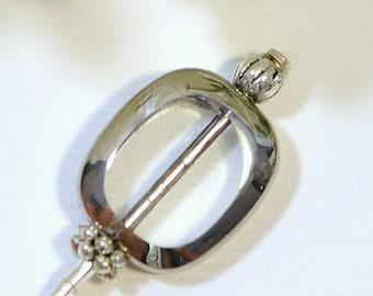 Hat Pin 3 inch Scarf Pin Lapel Pin Hijab Pin Small Sarong Pin Beaded Pin Handmade
