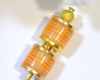 Yellow Hijab Pin Small Hat Pin 3 inch Yellow Lapel Pin Sarong Pin Scarf Pin Beaded Stick Pin Handmade