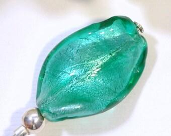 4 inch Hat Pin Green Lapel Pin Small Hijab Pin Sarong Pin Scarf Pin Beaded Stick Pin Handmade