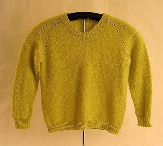 Childs Top Down Raglan Sweater Knitting Pattern Pdf Etsy