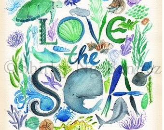 Love the Sea Print