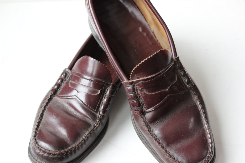 05b64a29290 Vintage Penny Loafers Cordovan Leather Men s size 9 1 2