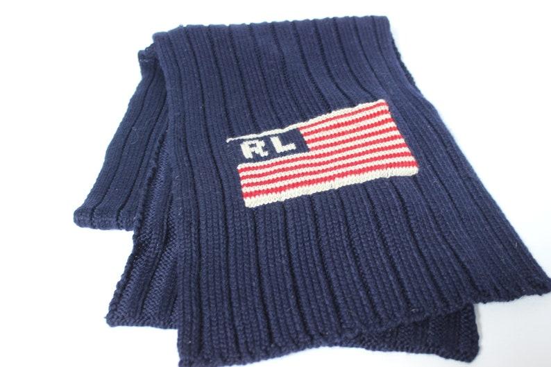 d634bea7940 Vintage Ralph Lauren drapeau américain foulard Ralph Lauren
