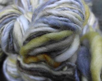 Handspun, handpainted worsted organic Polwarth wool yarn, multiple skeins available-Antiquity