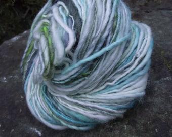 Handspun yarn, handpainted wool BFL wool  worsted yarn multiple skeins available-Yule Ball