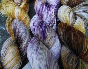 Handpainted sock yarn, fingering yarn, Superwash Fine Merino Nylon, 100 grams-Demeter