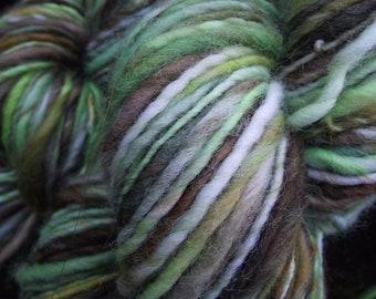 Handspun yarn,  handpainted yarn,  wool, worsted Merino yarn- Entwife