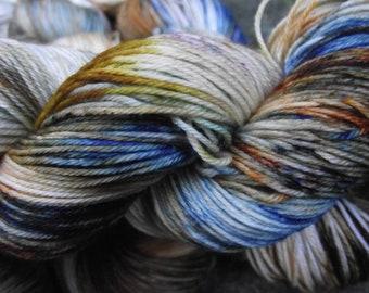 Handpainted sock yarn, fingering yarn, Superwash Fine Merino Nylon, 100 grams-Clinks