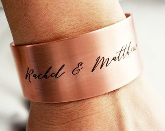 a97f61683ad Personalized Thick Cuff - Engraved Cuff Bracelet, Personalized Bridesmaid  Gift, Bridal Gift, Engraved Bracelet, Name Bracelet - Thick Cuff