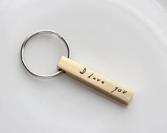 Custom Handwriting Keychain - Custom Engraved Key chain, Personalized Gift, Custom Key chain Engraved Keychain Handwriting Gift, Handwriting