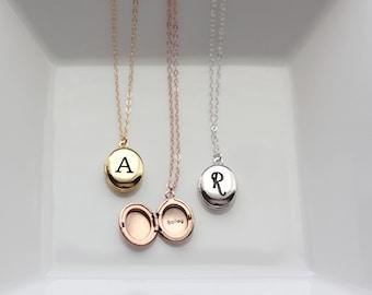 Personalized Locket - Engraved OVAL MINI Locket, Initial Locket, Valentine's Gift, Personalized Gift, Locket Necklace Bridesmaid Gift Locket