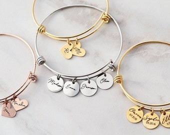 Mama Bracelet / Name Bracelet / Personalized Charm Bracelet / Mothers Day Gift / Mum Gift for Her / Personalized Childrens Names 13 SSD
