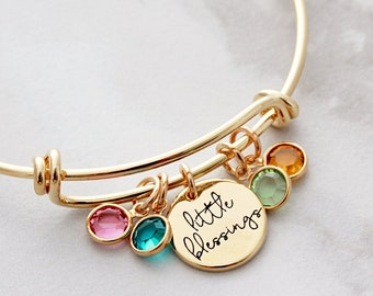 Birthstone Bracelet / Personalized Bracelet / Birthstone Jewelry / Custom Birthstone Bracelet / Personalized Gift for Mom / Mothers Day Gift