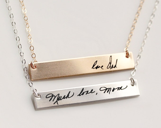 Handwriting Necklace / Signature Necklace / Handwriting Jewelry / Actual Handwriting / Custom Handwriting Necklace / Signature Jewelry HWR