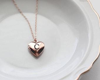 Heart Locket - Children's Personalized Locket Necklace, Silver Heart Locket, Gold Heart Locket, Personalized Flower Girls Mothers Day Locket