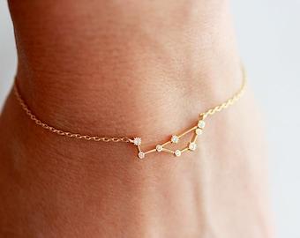 Zodiac Bracelet / Astrology Bracelet / Zodiac Constellation / Virgo Zodiac / Pisces Bracelet / Aquarius Jewelry / Zodiac Birthday BGS