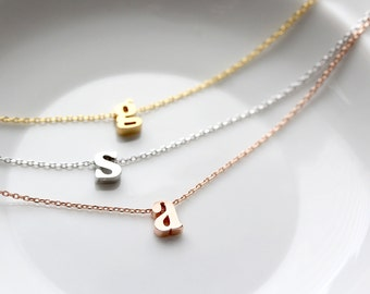 Initial Necklace / Letter Necklace / Minimalist Jewelry / Bridesmaid Gift / Dainty Necklace / Simple Necklace / Personalized Gift for Her