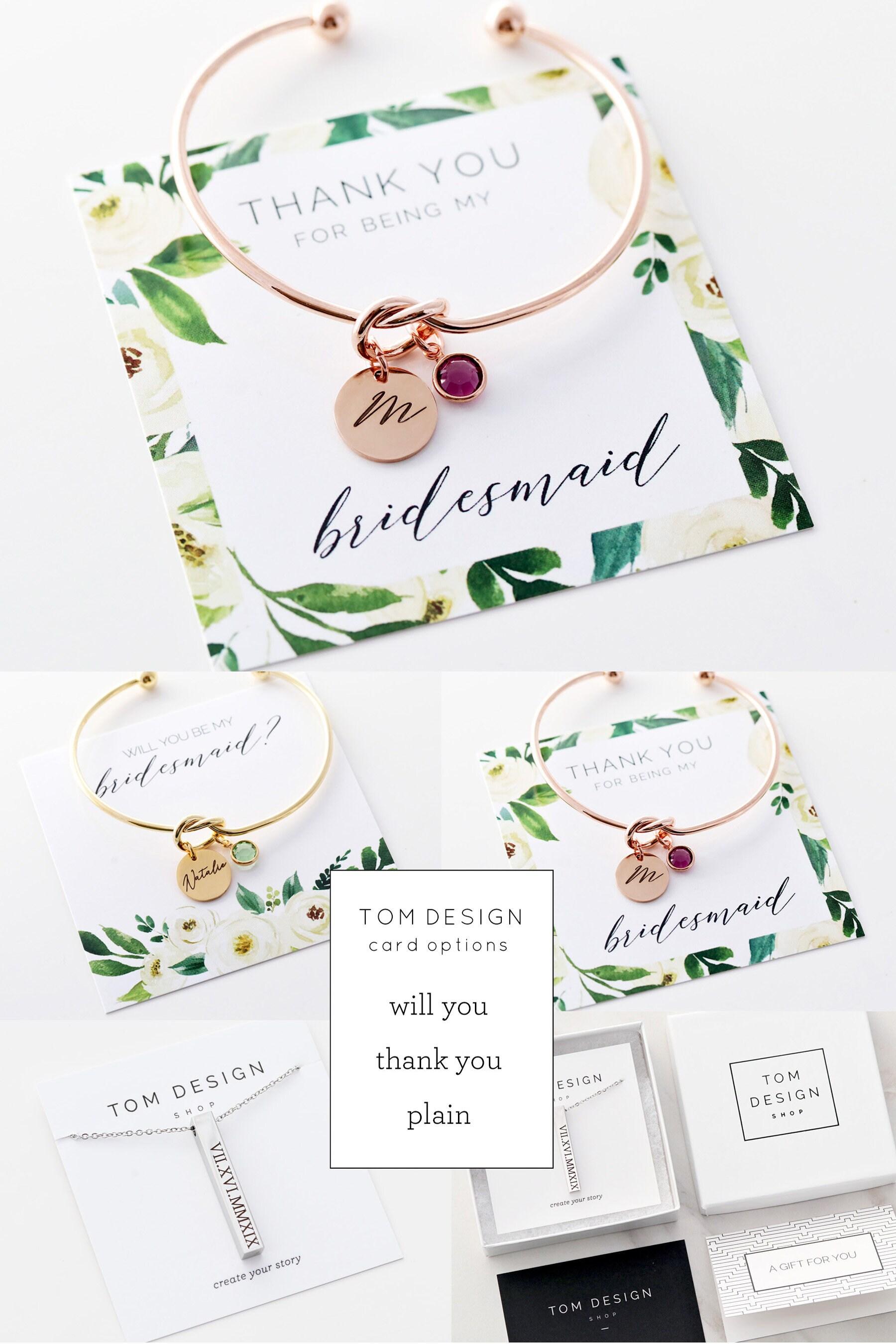 74059535015 Love Knot Bracelet / Tie the Knot / Knot Bracelet / Bridesmaid Gift /  Bridesmaid Bracelet / Dainty Bracelet / Personalized Dainty Gift