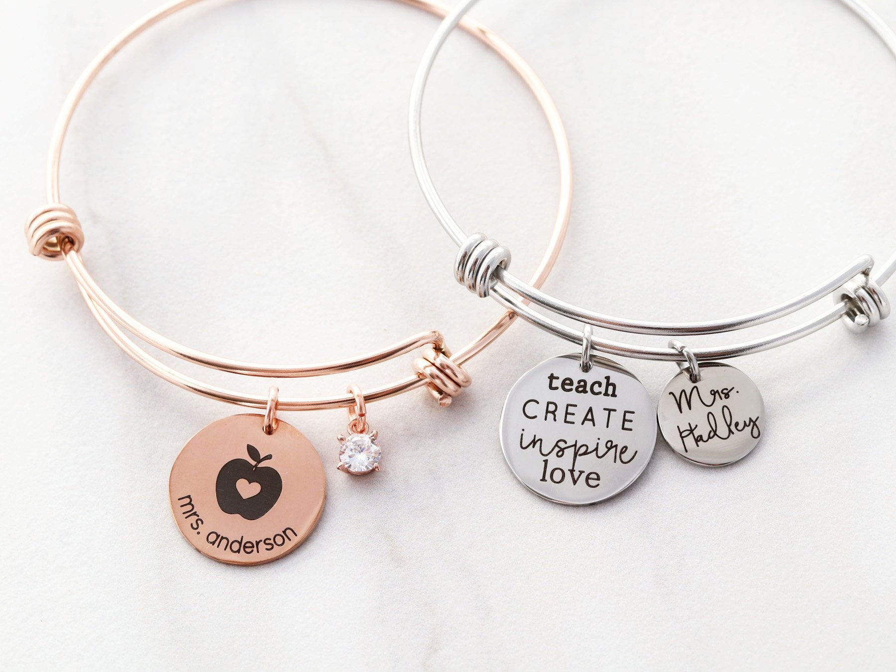 POTIY Appreciation Bracelet Jewelry You Will Always Bee My Favorite Teacher Thank You Gift for Teacher for Teachers