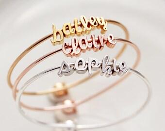 Children's Name Bracelet / Flower Girl Gift / Flower Girl Jewelry / Flower Girl Bracelet / Personalized Gift for Girls / Gift For Girls