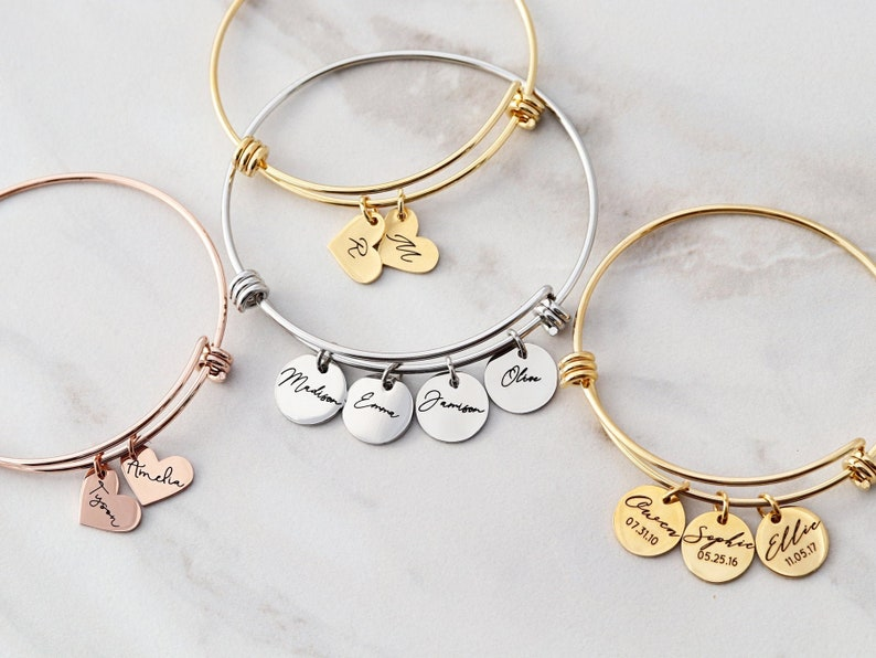 Mama Bracelet / Name Bracelet / Personalized Charm Bracelet / image 0