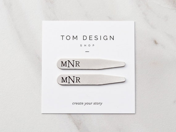 MODERN GOODS SHOP Stainless Steel Collar Stays With Laser Engraved Bosnia And Herzegovina Design Made In USA 2.5 Inch Metal Collar Stiffeners