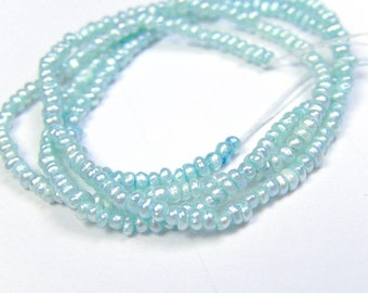 Small Pearls, Freshwater Pearls, Seafoam,  2mm.  Strand Your  Choice  (j3prl2)