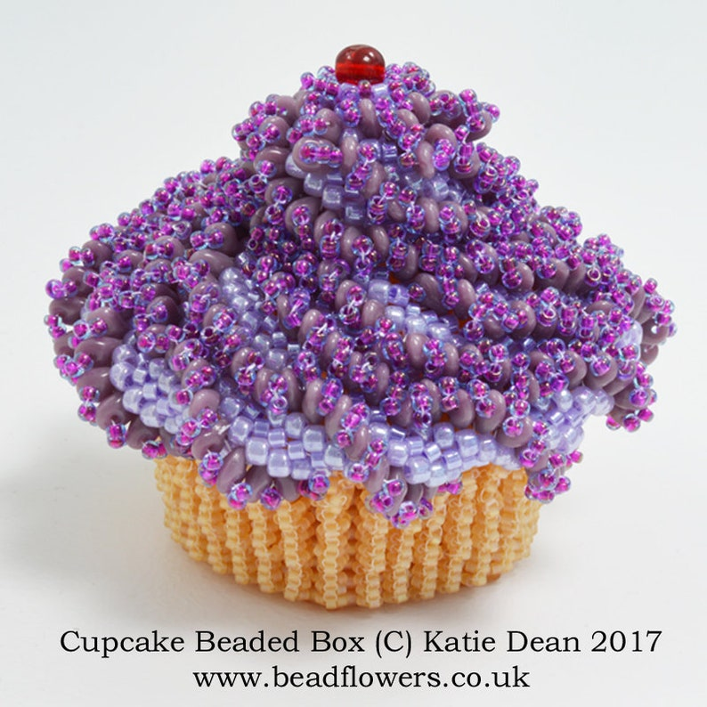 a9471fe202d Cupcake Beaded Box Pattern by Katie Dean | Etsy