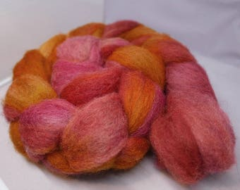 Crysanthemum - 4oz - 114g - Carded Happy Sheep Blend Roving