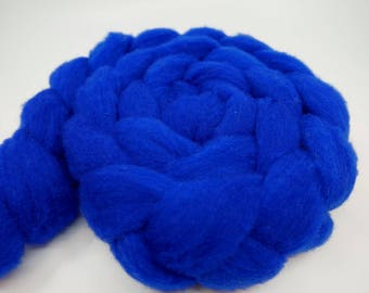 Cobalt - 4oz - 114g - Carded Extra-Soft Domestic Montadale Roving