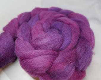 Purple Haze - 4oz - 114g - Carded Extra Soft Domestic Dorset Roving