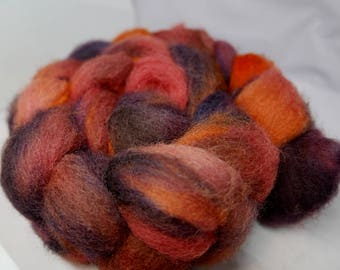 Maple Leaves - 4oz - 114g - Carded Cheviot Roving